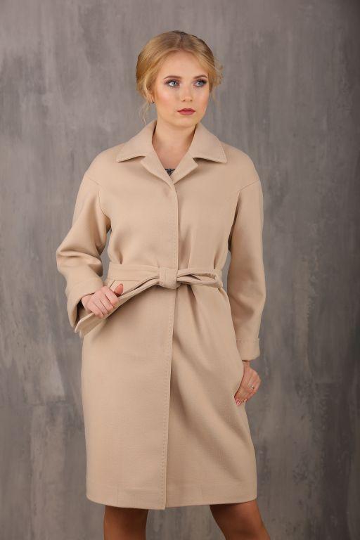 Пальто женское демисезонное 18570-049  (св.бежевый)