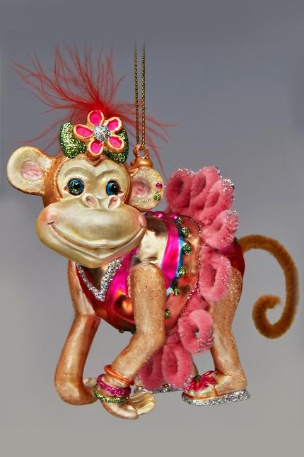 большая елочная игрушка год обезьяны своили руками магазинов
