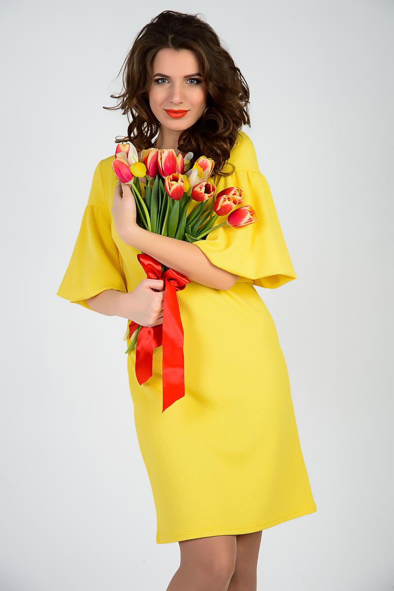 Платье Герда желтая 2