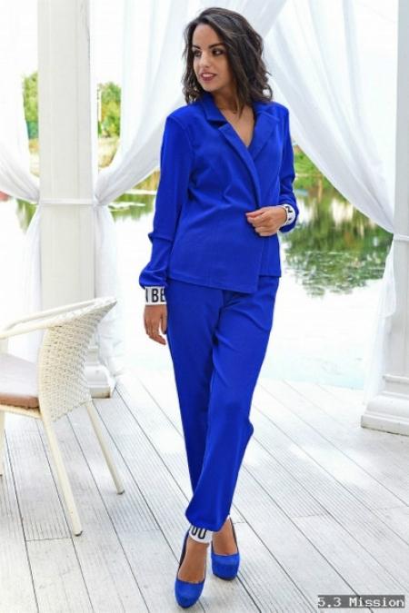 костюм синий женский фото
