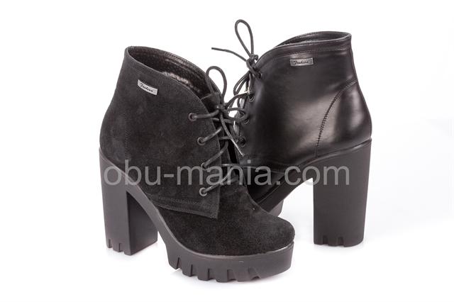 Ботинки Classic Fashion 8001\\2 черн кожа, 8002\\2 черн заша