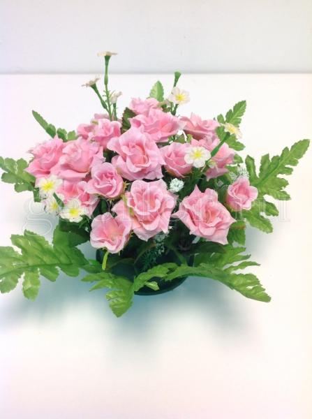 Подставка с маленькими розами