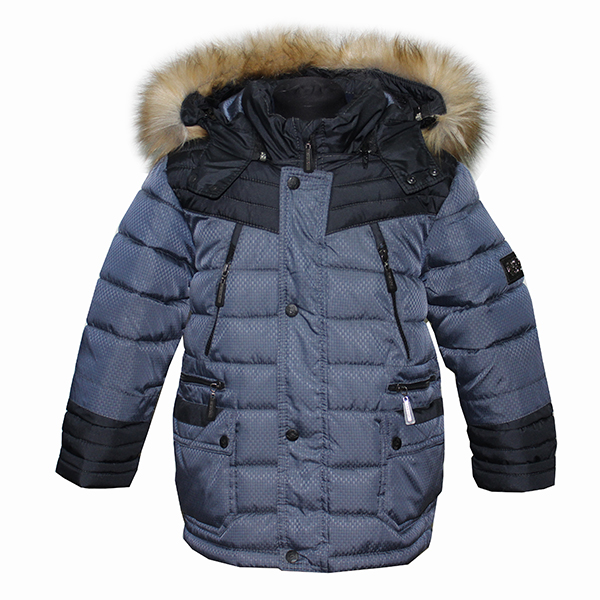 Куртка-Парка для мальчика 6915 Пралеска (Беларусь) серая