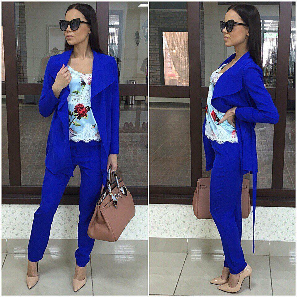 темно синий костюм женский с чем носить фото холсте большом