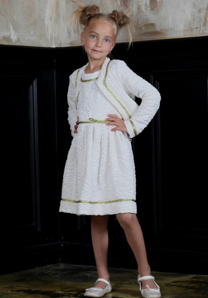 Комплект: платье и жакет праздничные для девочки 128 размер