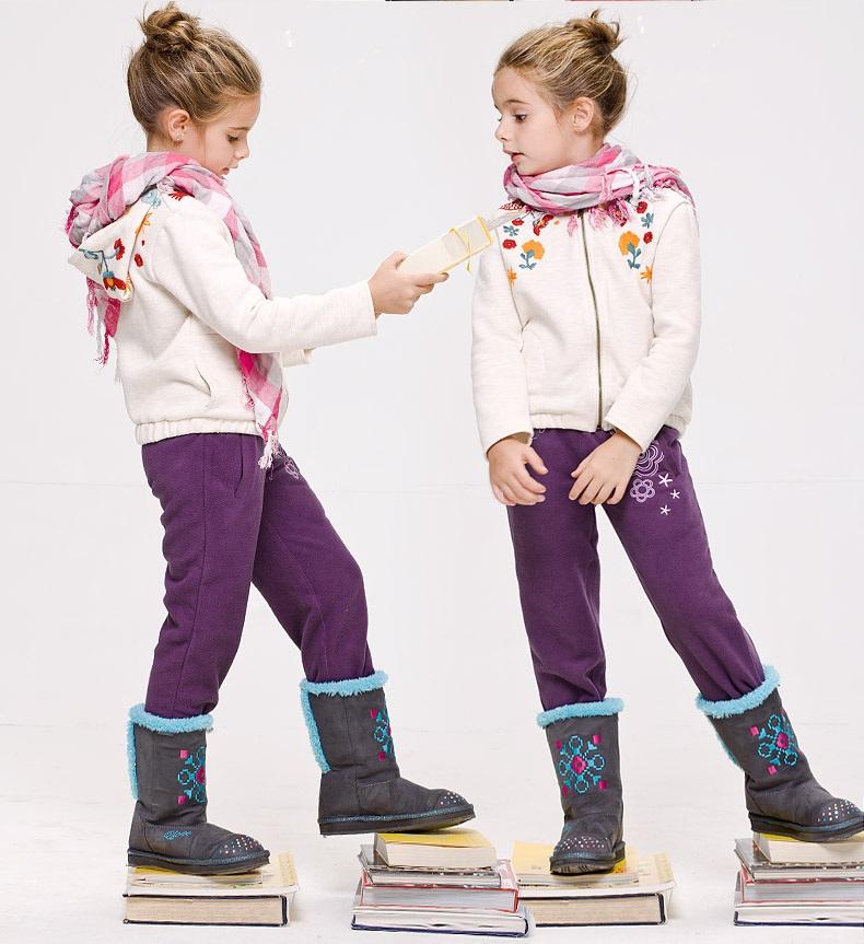 Флисовые штаны  с вышивкой