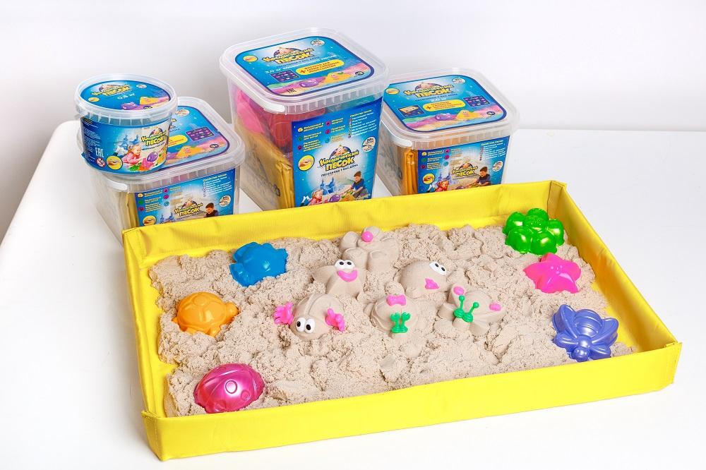 Полный набор №2 песок+песочница+формочки+книжка фасовка 1 кг