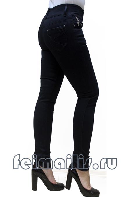 Зауженные черные джинсы Feimailis