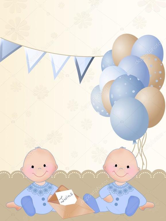 Открытка 1 годик двойняшкам, днем рождения татьяне