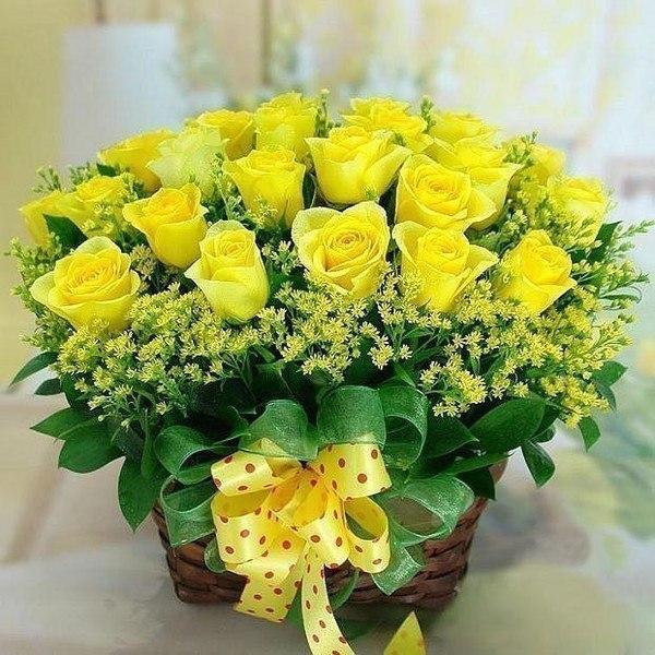 Папе днем, картинка желтые розы с днем рождения