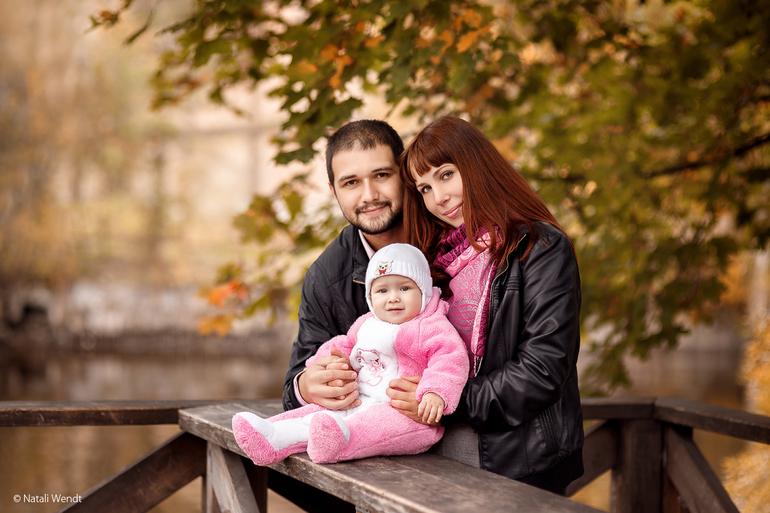 семейные фото осенние