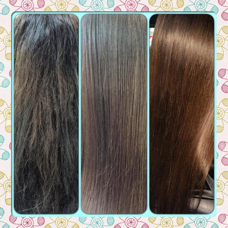 Разница между ботоксом и кератином для волос
