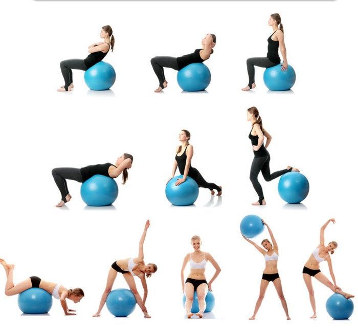 Упражнения на фитбол в картинках