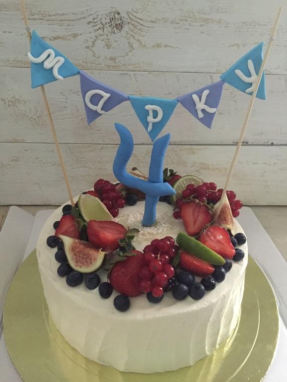 Украшение торта на «День Рождения»