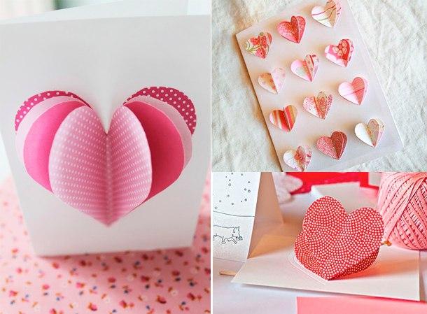 Открытки для мамы с сердечками
