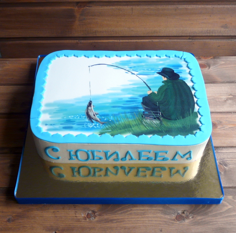 рыбацкую тему на картинки торт