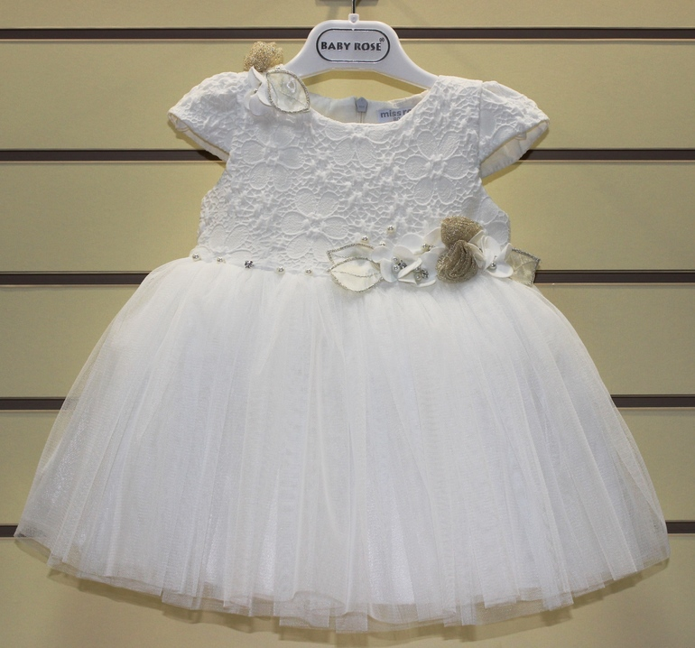 Платье белое на малышку