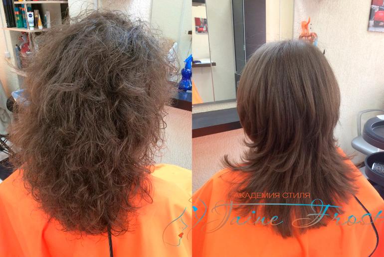 Выпрямление волнистых волос