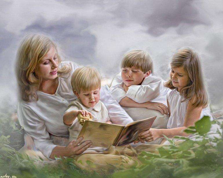 Как-то, открытка три сына