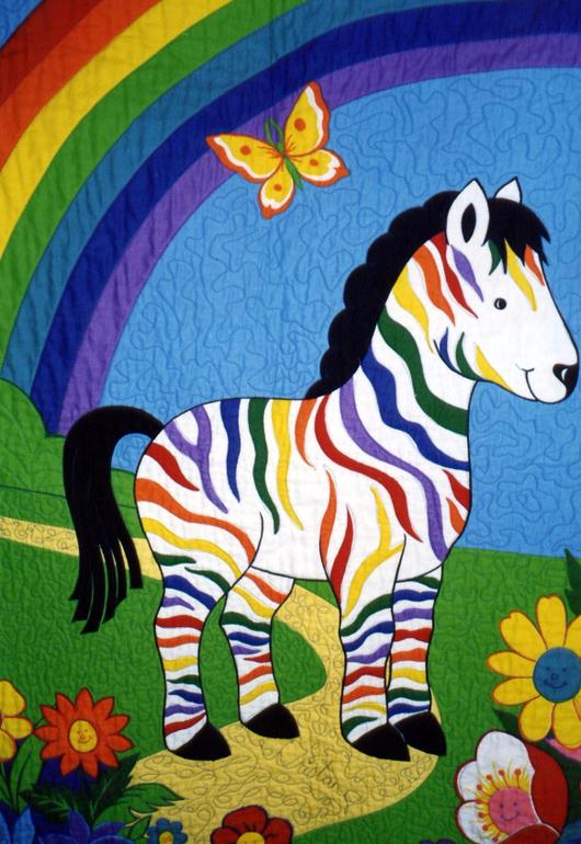 картинка радужная зебра подобно