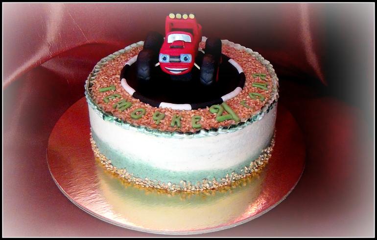 торт из мастики вспыш фото