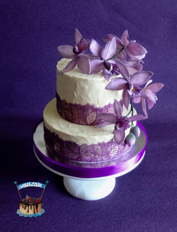 Свадебные торты двухъярусные без мастики фото