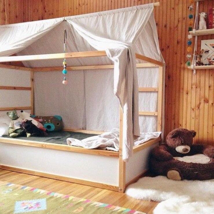 Домики в детскую кроватку своими руками