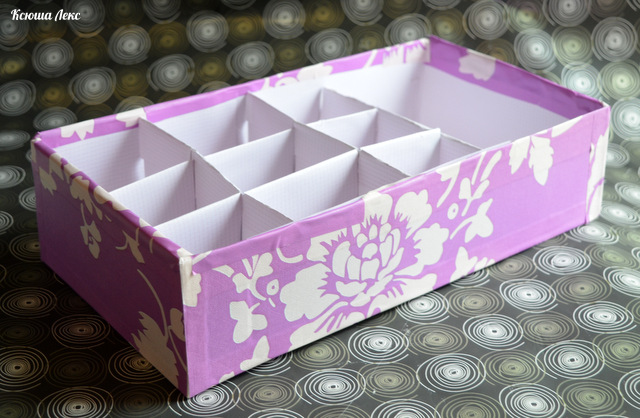 Коробка для хранения белья сделать своими руками 67