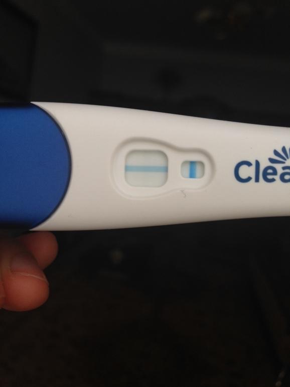 Клеар блю тест на беременность фото