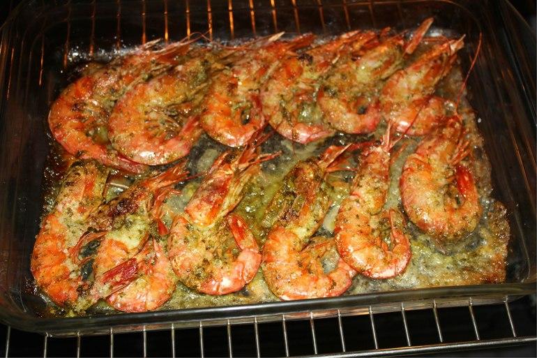 Запеченные креветки в духовке фото рецепт
